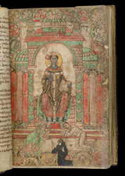 Gregory the Great, in a Benedictional